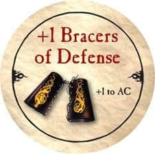 1 Bracers Of Defense While wearing these bracers, you gain a +2 bonus to ac if you are wearing no armor and using no shield. true dungeon token database